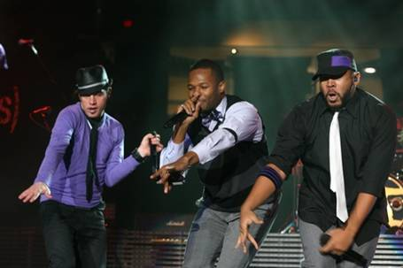 Left to right Toby Mac, Shonlock, GabeReal